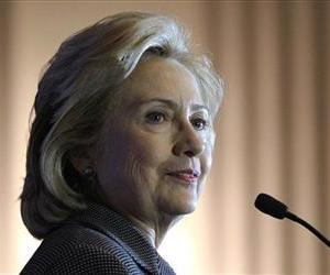In this Dec. 6, 2013 file photo, former Secretary of State Hillary Rodham Clinton speaks on Capitol Hill.