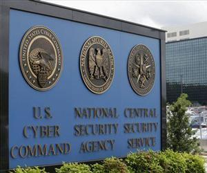 This June 6, 2013 file photo shows the sign outside the National Security Agency (NSA) campus in Fort Meade, Md.