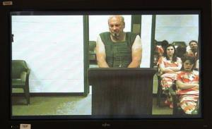 Curtis Reeves appears via video conference before Circuit Judge Lynn Tepper in Wesley Chapel, Florida.