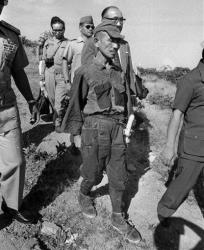 Hiroo Onoda after emerging from hiding on the Philippines' Lubang Island in 1974.