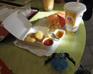 Shown is a Happy Meal at a McDonald's restaurant in San Francisco, Monday, Nov. 8, 2010.