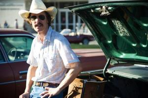 This image released by Focus Features shows Matthew McConaughey as Ron Woodroof in a scene from the film, Dallas Buyers Club.