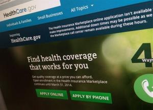 This photo of part of the HealthCare.gov website is photographed in Washington, in this Nov. 29, 2013 file photo.