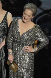 Actress Meryl Streep presents an award during the Oscars at the Dolby Theatre on Sunday Feb. 24, 2013, in Los Angeles.
