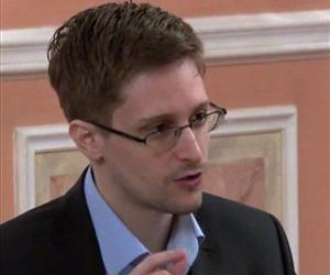 In this image made from video released by WikiLeaks on Oct. 11, 2013, Edward Snowden speaks in Moscow.