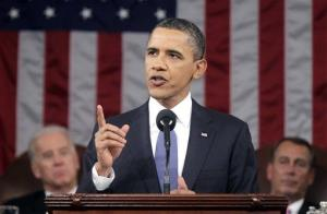 In this Jan. 25, 2011 file-pool photo, President Barack Obama delivers his State of the Union address on Capitol Hill in Washington.