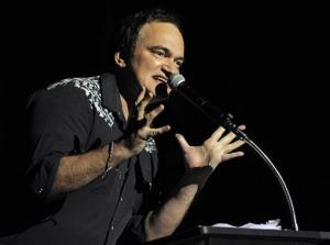 Quentin Tarantino makes a speech during a tribute to actor Bruce Dern before the 2013 AFI Fest premiere of the film Nebraska at the TCL Chinese Theatre on Monday, Nov. 11, 2013 in Los Angeles.