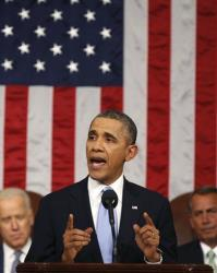 President Obama delivers the State of Union address.