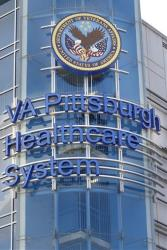 A sign on the parking lot is seen at the Veterans Affairs hospital in Pittsburgh on   Wednesday, Feb. 6, 2013.