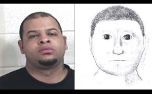 Glenn Edwin Rundles, along with the police sketch.