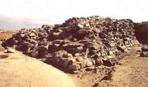 The remains of the pyramid at Edfu.
