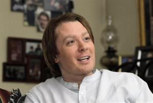 In this May 28, 2010 photo Clay Aiken is seen during an interview in Raleigh, N.C.