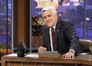 This Nov. 5, 2012 photo released by NBC shows Jay Leno, host of The Tonight Show with Jay Leno, on the set in Burbank, Calif.