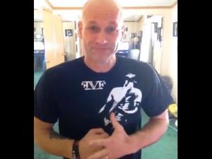 A screen shot of John Berlin from his YouTube video.