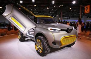 Renault concept SUV KWID (sans drone) is displayed at the 12th Indian auto Expo in Noida, India, on Feb. 5.