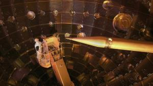The National Ignition Facility focused 192 laser beams on a tiny target.
