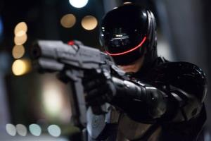 This image released by Columbia Pictures shows Joel Kinnaman in a scene from RoboCop.