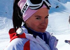 Russian skicross racer Maria Komissarova.