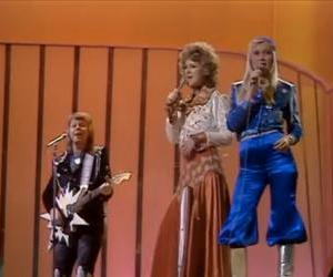 An example of ABBA's crazy outfits.