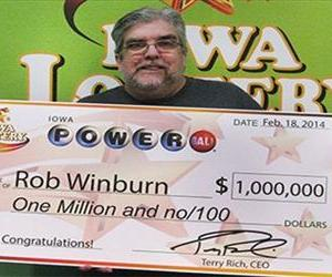 Winburn was one of nine people nationwide who won $1 million on Saturday.