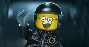 This image released by Warner Bros. Pictures shows the character Bad Cop/Good Cop, voiced by Liam Neeson, in a scene from The Lego Movie.