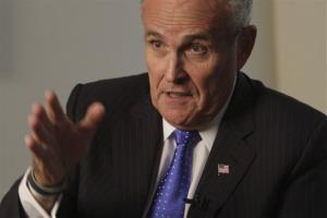 Rudy Giuliani speaks during an interview in New York in 2011.