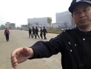 File photo of a Chinese police officer.