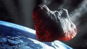 A European Space Agency artist's impression of an asteroid coming a little too close for comfort.