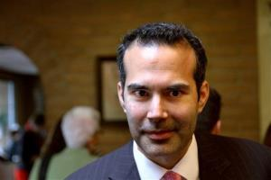 George P. Bush makes a campaign stop in El Paso, Texas earlier this week.