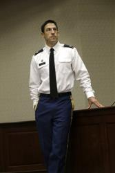Military prosecutor   US Army Lt. Col.  Jay Morse waits to speak to a class at the SMU Dedman School of Law in Dallas last fall.