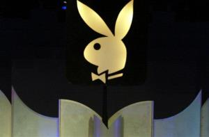 This file photo made June 19, 2004, shows the Playboy logo in Los Angeles.