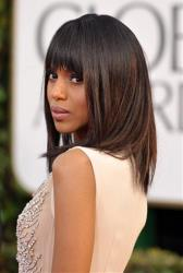 Actress Kerry Washington arrives at the 70th Annual Golden Globe Awards at the Beverly Hilton Hotel on Sunday Jan. 13, 2013, in Beverly Hills, Calif.