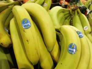 Chiquita bananas are on display at a grocery store in Bainbridge, Ohio, in this Aug. 3, 2005 file photo.