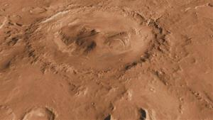 Mars' Gale Crater, one of the thousand or so named craters on the planet.