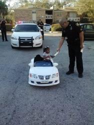 A photo obtained by First Coast News shows the ticket issued to a 2-year-old.