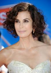 Teri Hatcher arrives at the world premiere of Disney's Planes at the El Capitan Theatre on Monday Aug. 5, 2013 in Los Angeles.