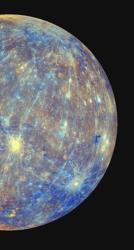 This photo from NASA's Messenger probe shows a portion of Mercury.