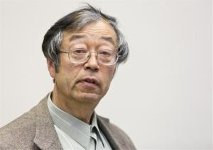 Dorian Satoshi Nakamoto is shown during an interview at the Associated Press bureau Thursday, March 6, 2014 in Los Angeles.