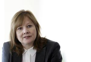 In this Thursday, Jan. 23, 2014, file photo, General Motors CEO Mary Barra addresses the media during a roundtable meeting with journalists in Detroit.