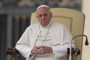 Pope Francis leads his weekly general audience, in St. Peter's Square, at the Vatican, Wednesday, March 19, 2014.