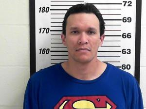 Christopher Reeves, in his police mugshot from Davis County, Utah.