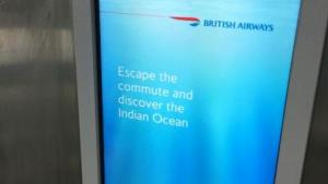 This ad startled commuters at London's Euston Station.