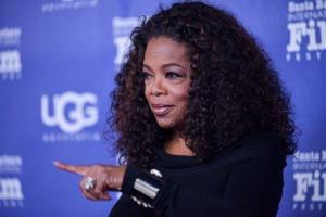 Oprah Winfrey arrives at 2014 Santa Barbara International Film Festival - Montecito Award ceremony on Wednesday, Feb, 5, 2014 in Santa Barbara, Calif.