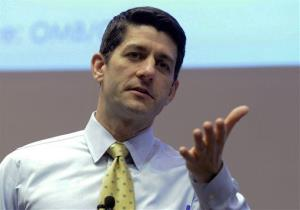 Rep. Paul Ryan answers constituents' questions in this file photo.