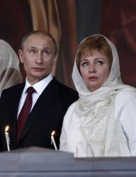 Vladimir Putin and Lyudmila in 2011.