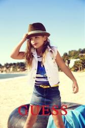 This campaign ad image provided by Guess? Inc., shows 6-year-old Dannielynn Birkhead, the daughter of the late Anna Nicole Smith.