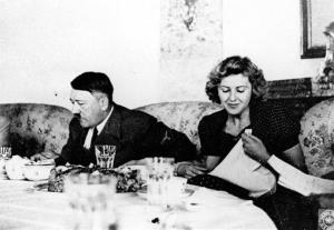 This undated file picture shows the Adolf Hitler and Eva Braun.