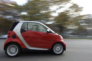 Daimler AG's Smart fortwo micro car is seen on a street in Washington.
