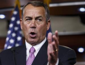 This March 26, 2014 file photo shows House Speaker John Boehner of Ohio speaking during a news conference on Capitol Hill in Washington.