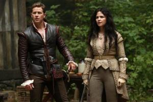 This image released by ABC shows Josh Dallas, left, and Ginnifer Goodwin in a scene from Once Upon a Time.